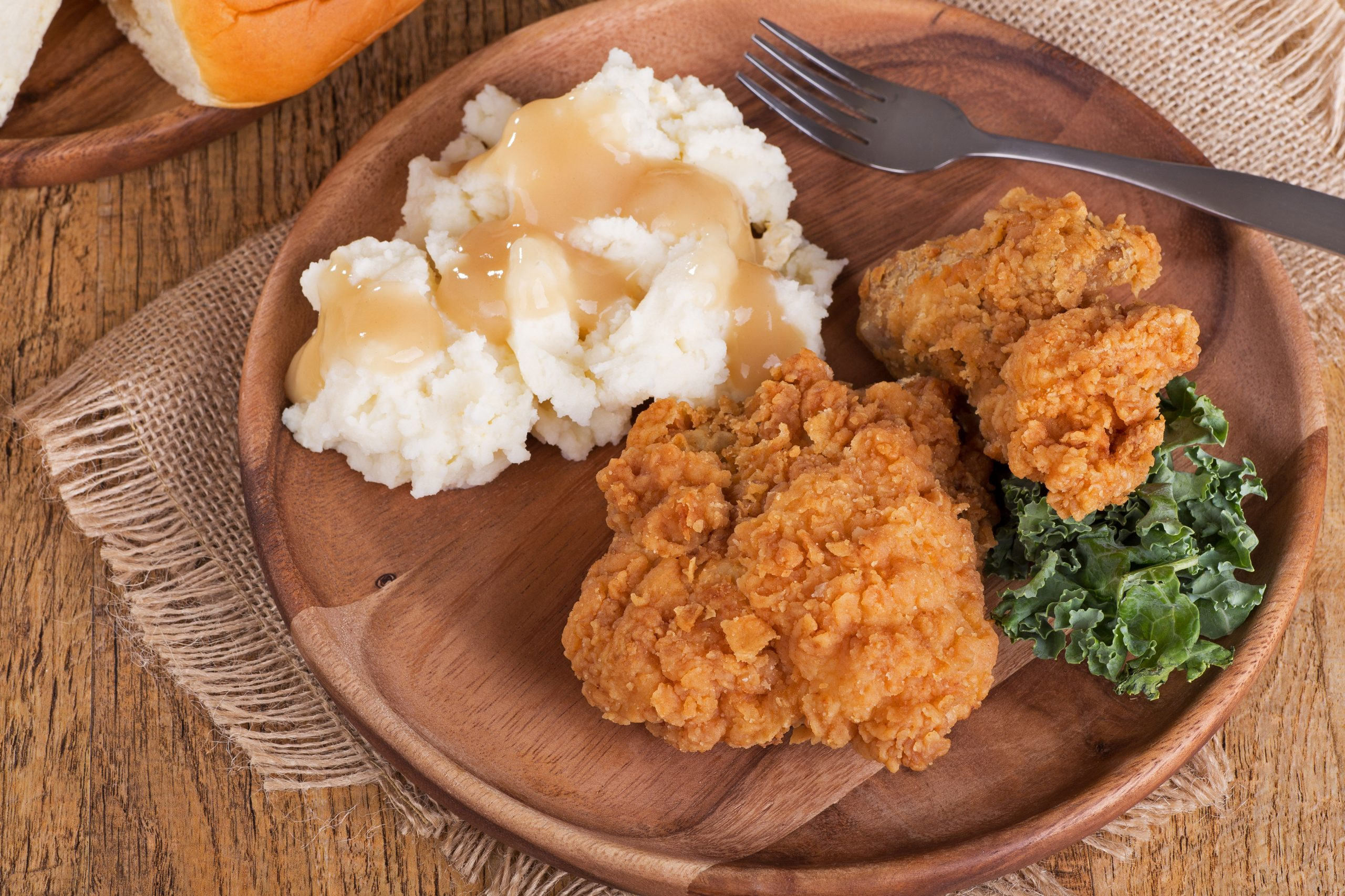 Plate of Chicken and Mashed Potatoes